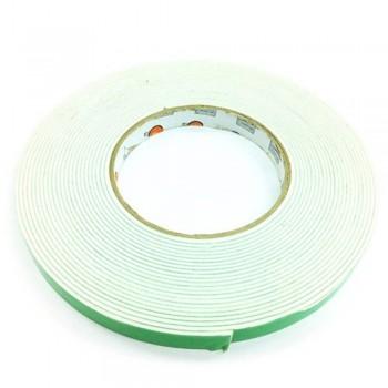 Foam Tape - 12mm x 10m, 3mm thick, White (Item No: B02-08 DSF12X10W) A1R2B49
