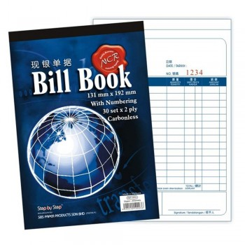 NCR Bill Book 30set x 2ply Carbonless with Numbering (Item No: C02-66) A1R4B158