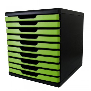 Niso 8855 Document Drawer 10 Tiers Green