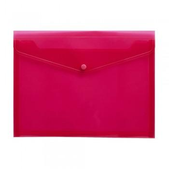A4 Document Holder Wallet Button Pink