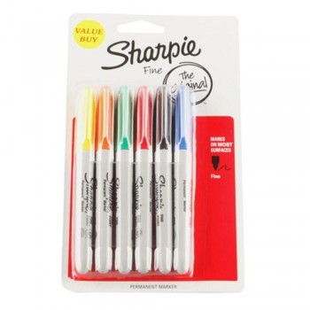 Sharpie Asst Colors Permanent - Marker Pen (Item No: A12-02) A1R3B48