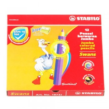 Stabilo 1873J Jumbo Colour Pencil-12S (Item No: B05-28) A1R2B156
