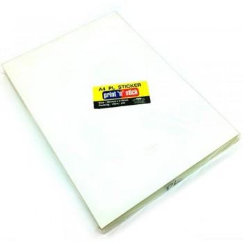 Print n Stick A4 PL Sticker - 297mm x 210mm, 100pcs (Item No: R01-04) A1R3B198