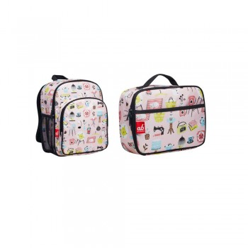 ab New Zealand Single Deck Household Elements Toddler Backpack and Lunch Bag Set