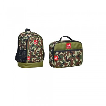 ab New Zealand Woodland Full Camo Toddler Backpack and Lunch Bag Set