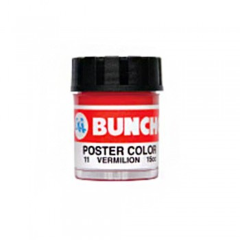 Buncho PC15CC Poster Color 11 Vermilion - 6/Box