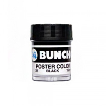 Buncho PC15CC Poster Color 31 Black - 6/Box