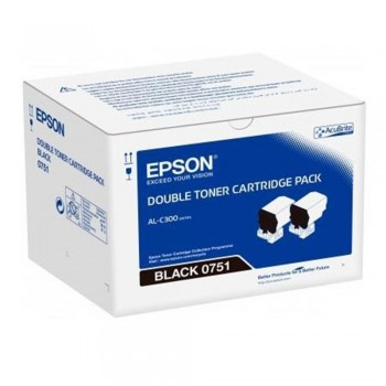 Epson S050751 Black Toner Cartridge Twin Pack