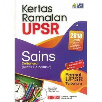 Kertas Ramalan UPSR Sains Dwibahasa (Kertas 1 & Kertas 2)
