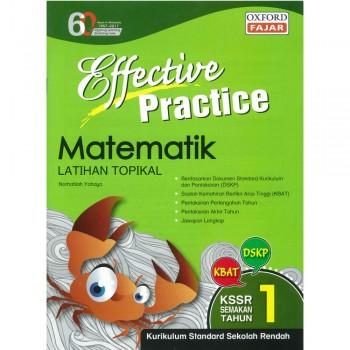 Effective Practice Matematik Latihan Topikal KSSR Semakan Tahun 1
