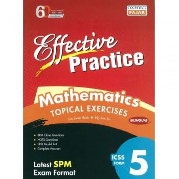 Effective Practice Mathematics Topical Exercises ICSS Form 5 Bilingual