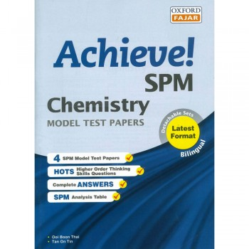 Achieve! SPM Chemistry Model Test Papers