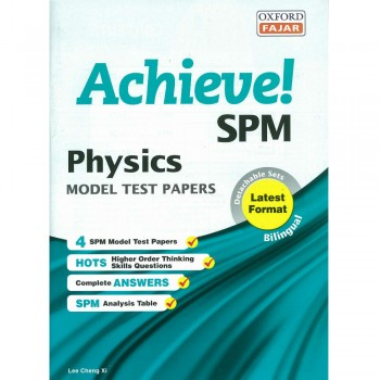 Achieve! SPM Physics Model Test Papers