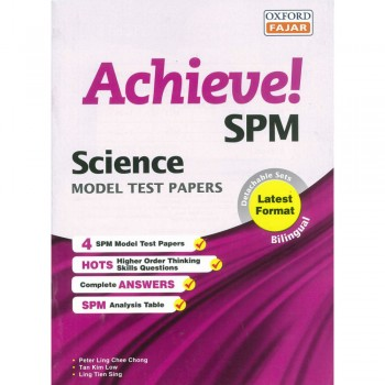 Achieve! SPM Science Model Test Papers