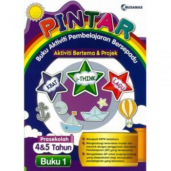Pintar Buku Aktiviti Pembelajaran Bersepadu Aktiviti Bertema & Projek Prasekolah 4&5 Tahun Buku 1