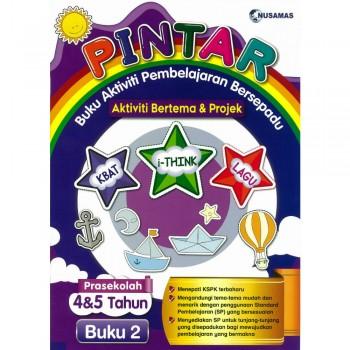 Pintar Buku Aktiviti Pembelajaran Bersepadu Aktiviti Bertema & Projek Prasekolah 4&5 Tahun Buku 2