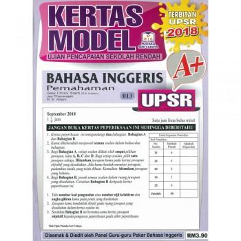 Kertas Model UPSR Bahasa Inggeris Pemahaman 013 2018