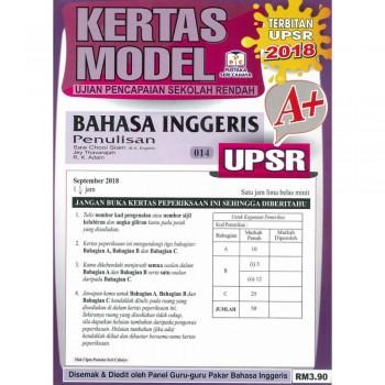 Kertas Model UPSR Bahasa Inggeris Penulisan 014