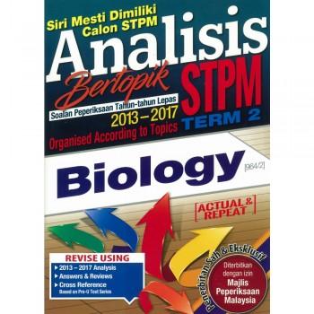 Analisis Bertopik Soalan Peperiksaan Tahun-tahun Lepas 2013-2017 STPM Term 2 Biology