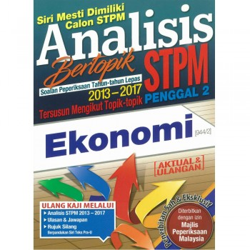 Analisis Bertopik Soalan Peperiksaan Tahun-tahun Lepas 2013-2017 STPM Penggal 2 Ekonomi