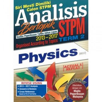 Analisis Bertopik Soalan Peperiksaan Tahun-tahun Lepas 2013-2017 STPM Term 2 Physics